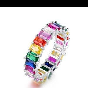 NEW Colorful Swarovski Crystals Eternity Band